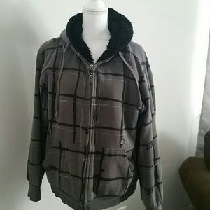 Volcom fur lined jacket sz m mens